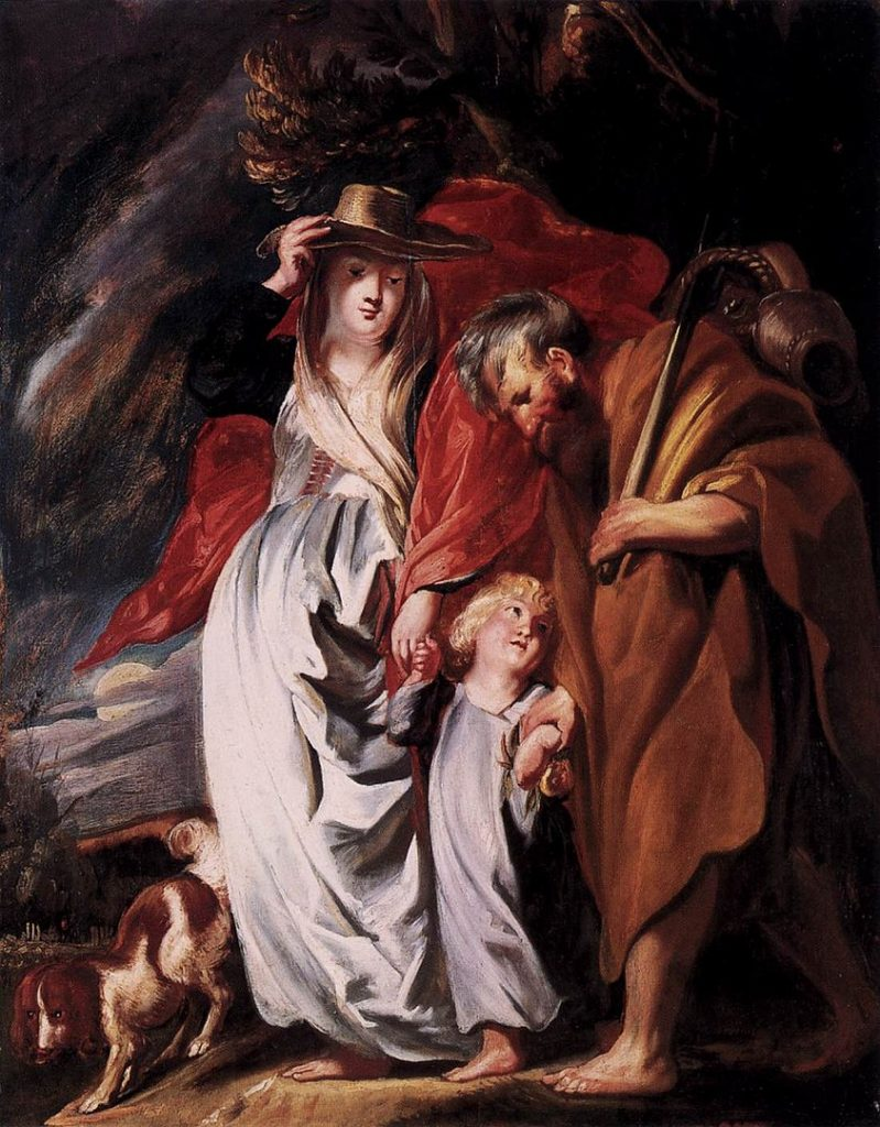 843px Jordaens Return of the Holy Family from Egypt