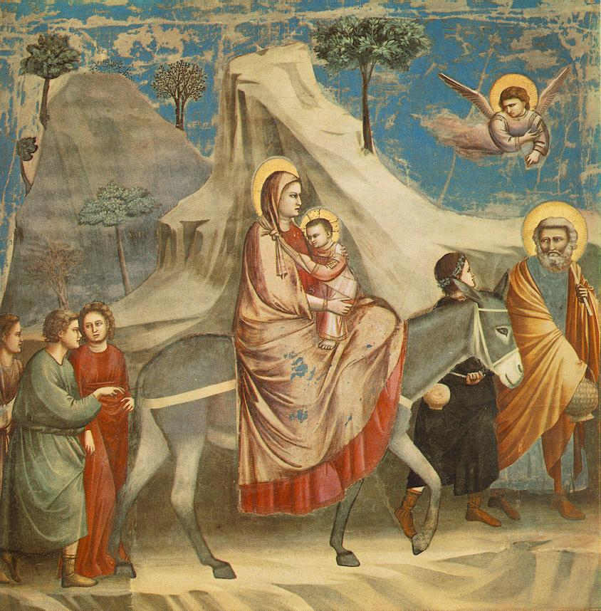 Giotto Scrovegni 20 Flight into Egypt