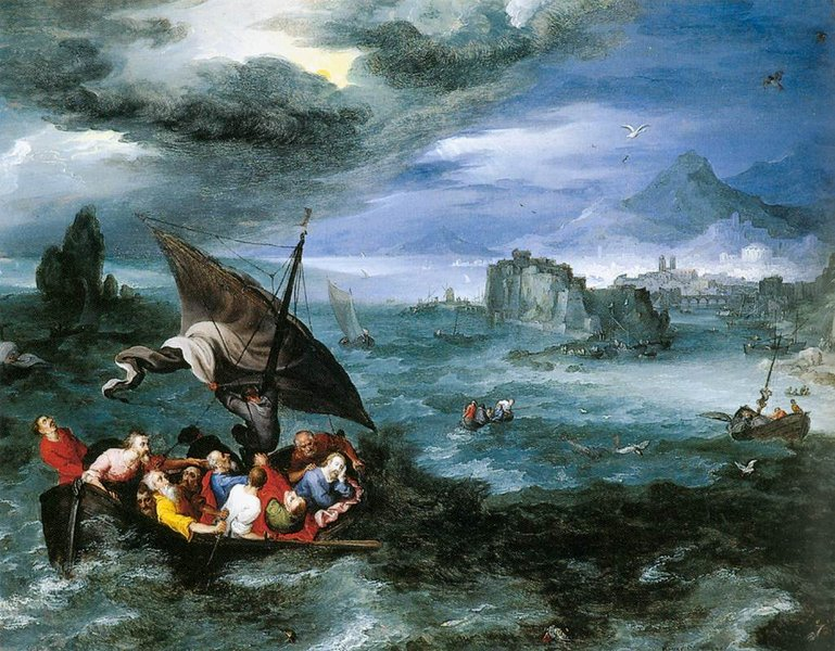 JAN BRUEGEL THE ELDER CHRIST IN THE STORM ON THE SEA OF GALILEE